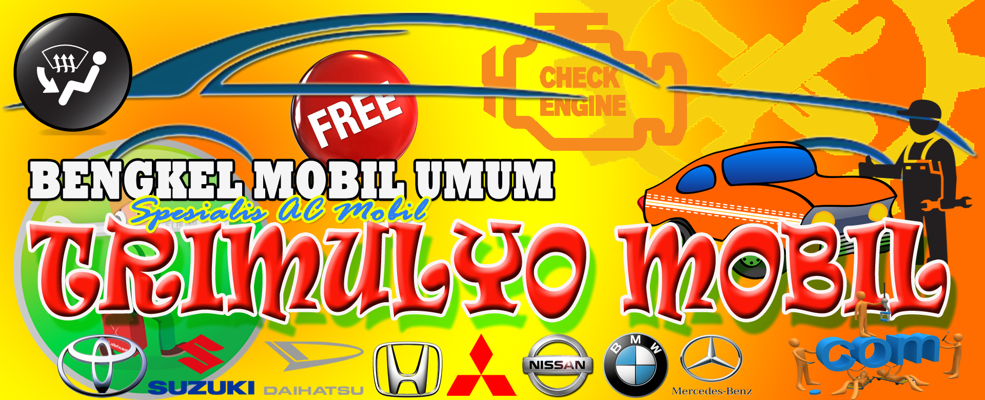 Bengkel AC Mobil segala merk di wilayah Bantul Yogyakarta dengan harga murah dan bersahabat